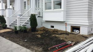 A home's front yard before landscaping