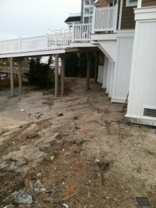 Walkway before Exclusive Land Design work.